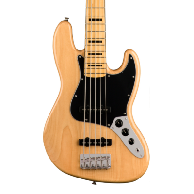 Fender, Squier, Classic Vibe 70's, 5 String, Jazz Bass, Natural, Maple Neck, Fender Cape Town, Fender Near Me
