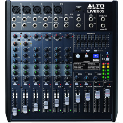 Alto Live 802, mixer, stage, band, PA, church, Alto near me, Alto Cape Town