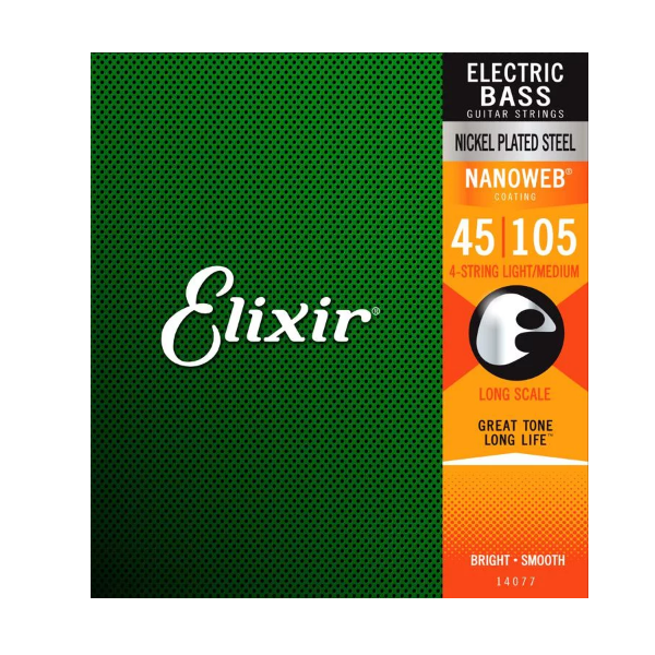 Elixir, 14-105, Medium Gauge, Nanoweb, Coated, Bass Strings, Steel, Elixir Cape Town, Elixir Near Me, Elixir South Africa