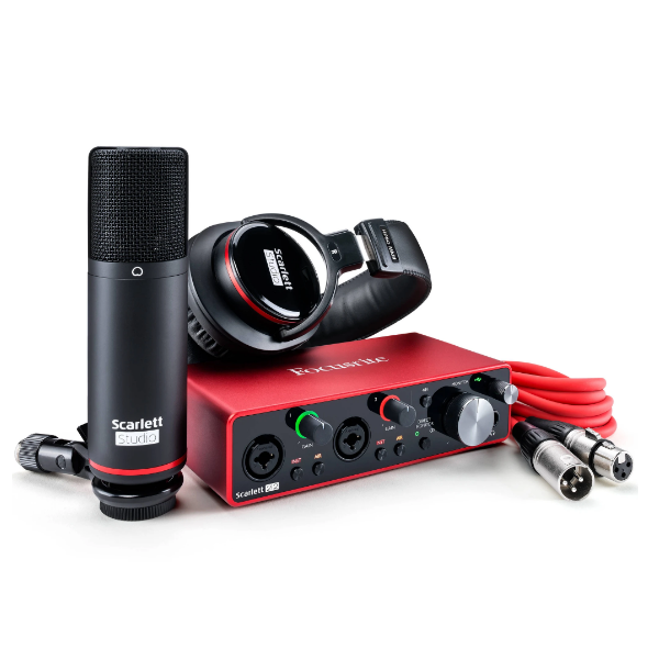 Focusrite Scarlett 2i2 studio bundle 7, interface, sound card, studio, recording, PC, producing, Focusrite near you, Focusrite Cape Town,
