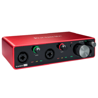 Focusrite Scarlett 4i4 3rd Gen USB, 4 in, 4 out, recording, interface, soundcard, Focusrite near me, Focusrite Cape Town