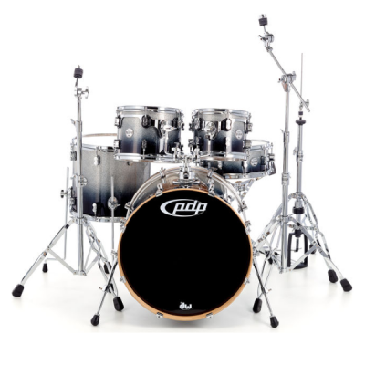 PDP, Concept Maple, 5-Piece, drum kit, Silver black fade, PDP near me , PDP Cape town,