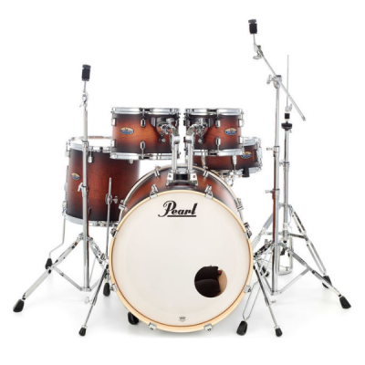 Pearl, Decade, Maple, 5-Piece, Satin Brown Burst, 5-piece