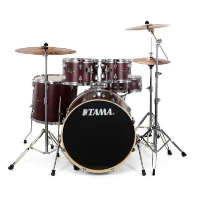 Tama, ImperialStar, 5-Piece, Burgandy, Walnut Wrap, Drum kit,