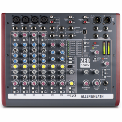 ZED10FX, Allen & Heath, mixer, stage, club, church, band, PA, Allen & Heath near me, Allen & Heath Cape Town