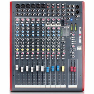 ZED12FX, mixer, Allen & Heath, studio, band, church, stage, PA, ALlen & Heath near me, ALlen & Heath Cape Town