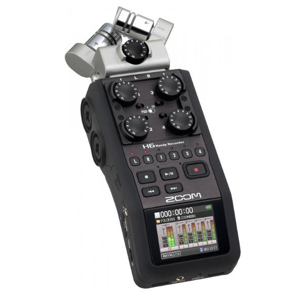 Zoom H6 8, portable, digital, recorder, speach, podcast, film, church, sermons, pro quality, Zoom near me, Zoom Cape Town