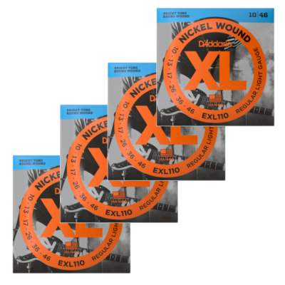 D'Addario, EXL110, Electric Strings, Nickle wound, 4 pack, 10-46 gauge, D'Addario Strings Near Me, D'Addario Strings Cape Town,